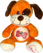 """Мягкая игрушка TashaToys Собака с вышивкой """"Кость"""" 22 см"""