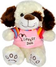 Мягкая игрушка TashaToys Собачка в кофте 22 см