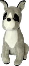 Мягкая игрушка TashaToys Собачка с ошейником 28 см