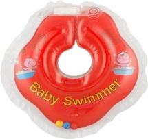 Круг на шею Baby Swimmer красный (с погремушкой) 3-12 кг