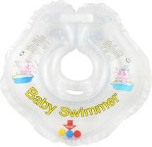 Круг на шею Baby Swimmer прозрачный (с погремушкой) 3-12 кг
