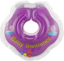Круг на шею Baby Swimmer фиолетовый (с погремушкой) 3-12 кг