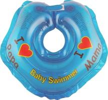 "Круг на шею Baby Swimmer ""Я люблю"" голубой 3-12 кг"