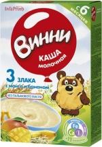 Каша Винни молочная 3 злака с манго и бананом с 6 мес 200 г