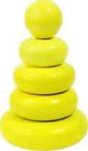 Пирамидка Alatoys Желтая 5 деталей