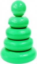 Пирамидка Alatoys Зеленая 5 деталей