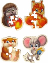 Мягкие пазлы Vladi Toys Baby Puzzle Пушистики