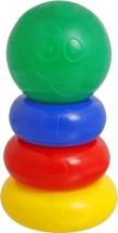 Пирамидка Крошка Я 3 кольца с шаром