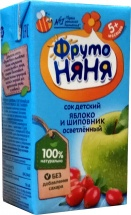 Сок Фрутоняня Яблоко-Шиповник осветленный с 5 мес 125 мл