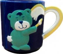 Кружка Курносики Медвежонок 200 мл, синий