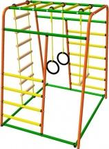 Шведская стенка Rokids Здоровый малыш, зелёно-оранжевый