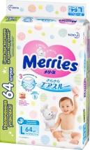Подгузники Merries L (9-14 кг) 64 шт