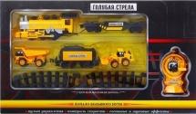 Железная дорога р/у Голубая стрела Строительная техника 270 см