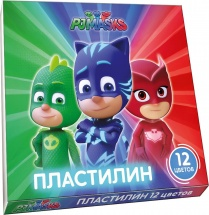 Пластилин Росмэн PJ Masks 12 цветов