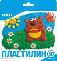 Пластилин Lori Классика 10 цветов