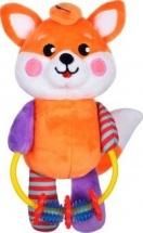 Мягкая игрушка Жирафики Лисенок с погремушкой