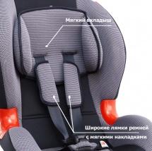Автокресло Siger Кокон изофикс 9-25 кг серый