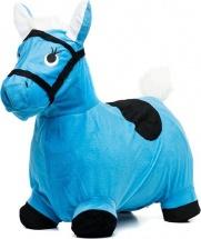 Прыгун Лошадка в текстиле, голубой