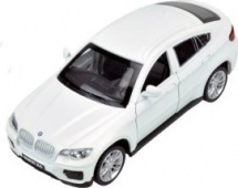 Машинка Пламенный мотор BMW X6, белый