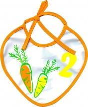 Слюнявчик Пома Морковка