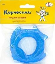 """Прорезыватель Курносики """"Рыбка"""" с водой, синий"""