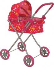 Коляска для кукол Buggy Boom Mixy классическая с капюшоном, кляксы (розовый)