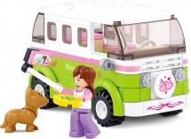 Конструктор Sluban Розовая мечта. Микроавтобус для путешествий 158 дет