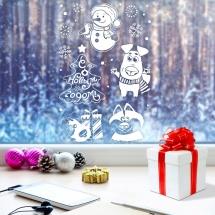 Наклейка для окон Арт Узор Новогодние радости