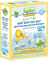 Морская соль BabyLine Nature для ванн c чередой 500 г