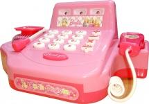 Касса со звуком и аксессуарами, розовый