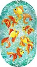 Коврик для ванны Valiant Золотые рыбки 69х39 см