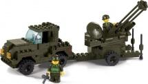 Конструктор Sluban Армия ВВС. Зенитная установка 221 деталей
