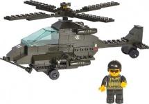 Конструктор Sluban Армия Сухопутные войска. Вертолет Апачи 158 дет