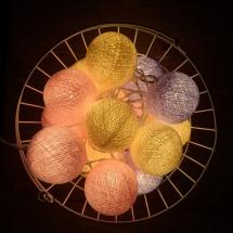 Тайская гирлянда VamVigvam желто-розово-фиолетовая