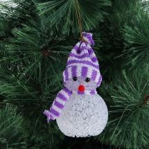 Игрушка световая Снеговик 6х13 см, фиолетовый