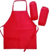 Набор для труда и рисования (фартук и нарукавники), красный