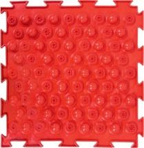 Массажный коврик Орто Колючки жесткий 25x25 см, красный