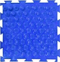 Массажный коврик Орто Колючки жесткий 25x25 см, синий