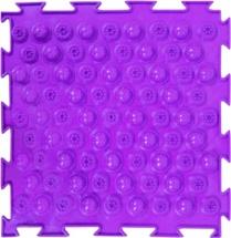 Массажный коврик Орто Колючки жесткий 25x25 см, фиолетовый