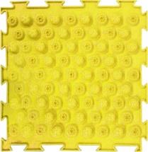 Массажный коврик Орто Колючки жесткий 25x25 см, желтый