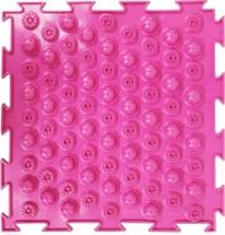 Массажный коврик Орто Колючки мягкий 25x25 см, розовый