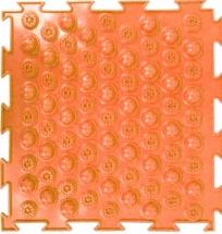Массажный коврик Орто Колючки мягкий 25x25 см, оранжевый