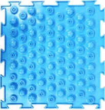 Массажный коврик Орто Колючки мягкий 25x25 см, голубой