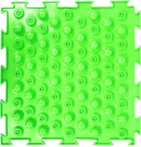 Массажный коврик Орто Колючки мягкий 25x25 см, салатовый