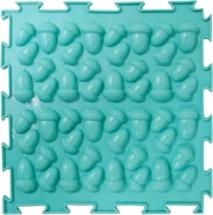 """Массажный коврик Орто """"Желуди"""" жесткий 25x25 см, бирюзовый"""