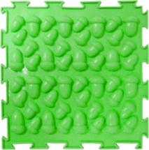 Массажный коврик Орто Желуди жесткий 25x25 см, салатовый
