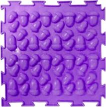 Массажный коврик Орто Желуди жесткий 25x25 см, фиолетовый
