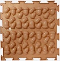 Массажный коврик Орто Желуди жесткий 25x25 см, коричневый