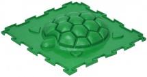 """Массажный коврик Орто """"Черепашка"""" жесткий 25x25 см, зеленый"""