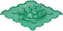 Массажный коврик Орто Черепашка жесткий 25x25 см, зеленый